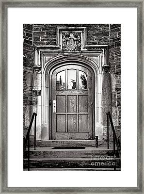Princeton University Little Hall Entry Door Framed Print