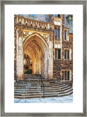 Framed Print featuring the photograph Princeton University Lockhart Hall Dorms by Susan Candelario