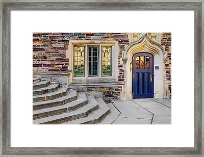 Framed Print featuring the photograph Princeton University Lockhart Hall by Susan Candelario