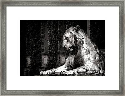 Princeton University Mighty Tiger  Framed Print by Olivier Le Queinec