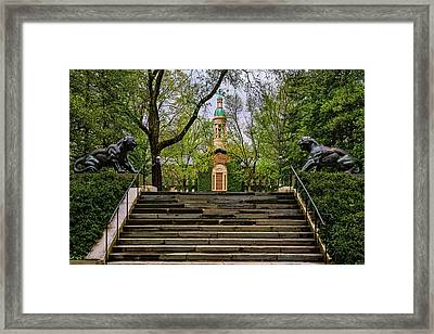 Framed Print featuring the photograph Princeton University Nassau Hall II by Susan Candelario