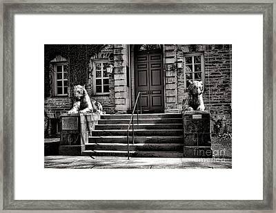 Princeton University Nassau Hall Tigers Framed Print by Olivier Le Queinec