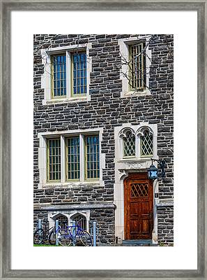Framed Print featuring the photograph Princeton University Patton Hall No 9 by Susan Candelario