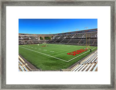Princeton University Stadium Powers Field Framed Print by Olivier Le Queinec