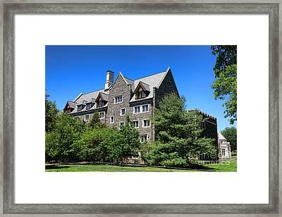 Princeton University Whitman College 1981 Hall Framed Print