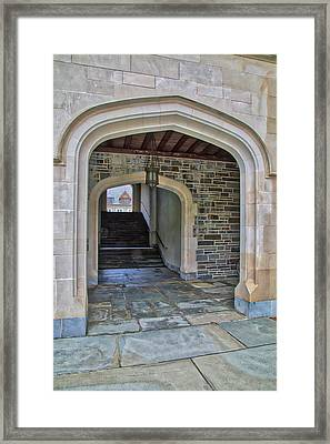 Framed Print featuring the photograph Princeton University Whitman College Arches by Susan Candelario