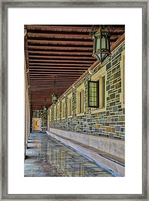 Princeton University Whitman College Hallway Framed Print by Susan Candelario