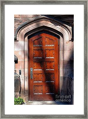 Princeton University Wood Door  Framed Print by Olivier Le Queinec