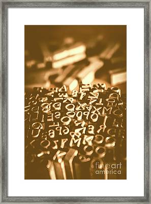 Print Industry Typographic Letters And Numbers Framed Print by Jorgo Photography - Wall Art Gallery