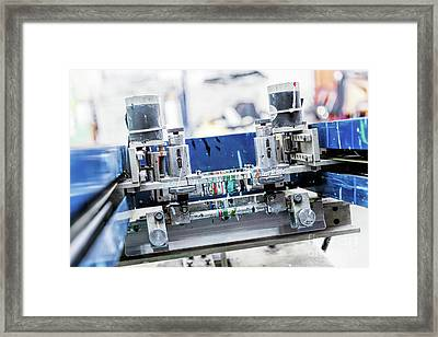 Print Screening Metal Machine. Framed Print