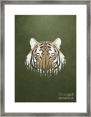 Hiding Tiger Framed Print