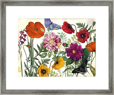 Printemps Garden Framed Print by Mindy Sommers