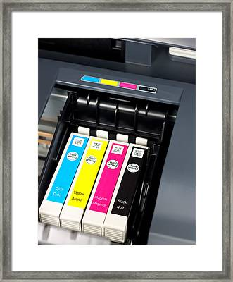 Printer Ink Cartridges Framed Print by Boyan Dimitrov