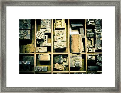 Printers Block Framed Print by Colleen Kammerer