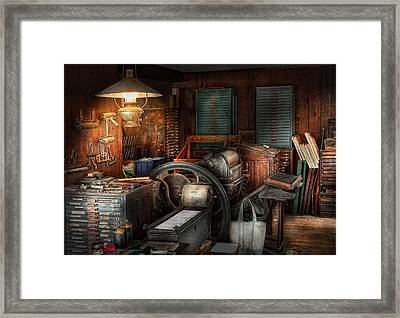 Printing - Stop The Presses  Framed Print by Mike Savad