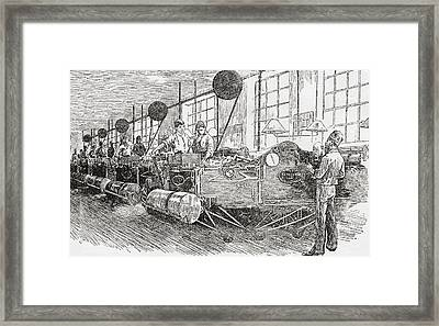 Printing Banknotes In The 19th Century Framed Print by Vintage Design Pics