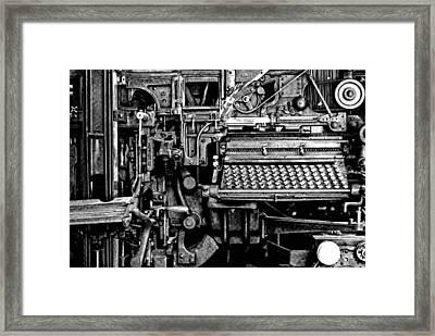Printing Press Framed Print by Kenneth Mucke