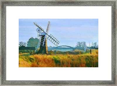 Framed Print featuring the photograph Priory Windmill by Valerie Anne Kelly