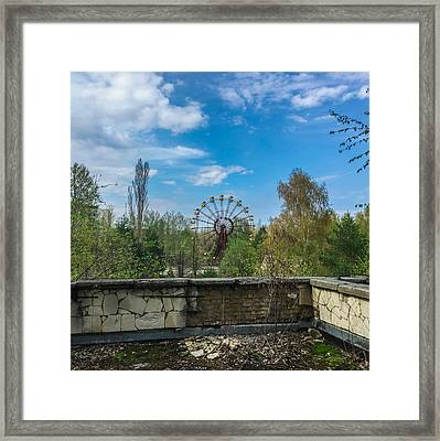 Framed Print featuring the photograph Pripyat Ferris Wheel In Chernobyl by Chris Feichtner