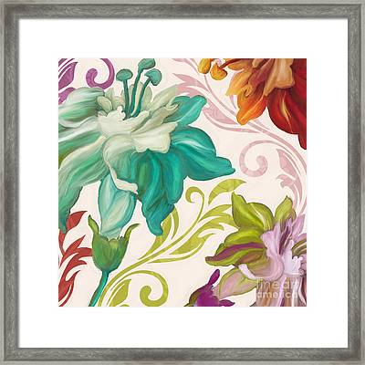 Prism Poetry Art Nouveau Pattern Framed Print