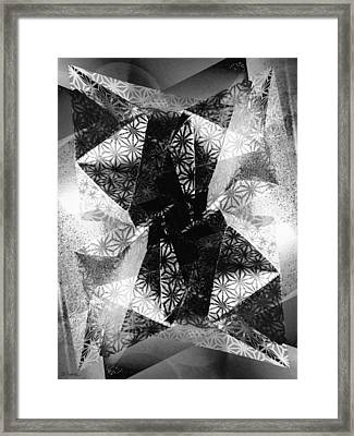 Prismatic Vision - Black And White Framed Print