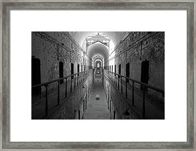 Prison Cell Hall Framed Print