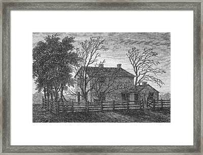 Prison In Carthage Illinois Usa Where Framed Print by Vintage Design Pics
