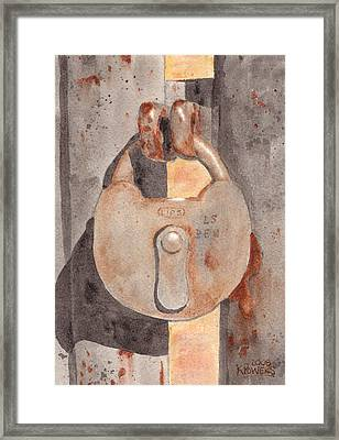Prison Lock Framed Print by Ken Powers