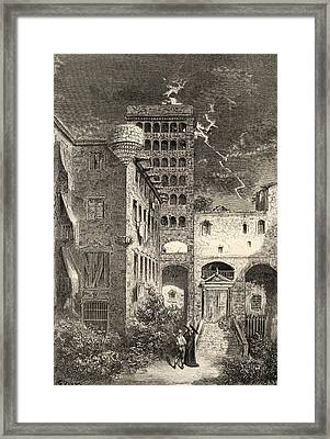 Prison Of The Inquisition Barcelona Framed Print