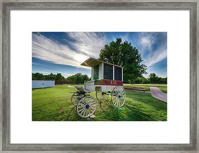 Prison Wagon Framed Print by James Barber