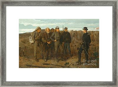 Prisoners From Front, 1866 Framed Print
