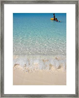 Pristine Beach At Half Moon Cay Framed Print by Margaret Bobb