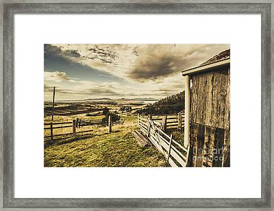 Pristine Hinterland Lookout  Framed Print by Jorgo Photography - Wall Art Gallery