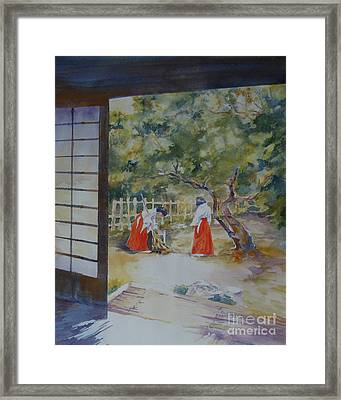 Framed Print featuring the painting Pristine Morning by Mary Haley-Rocks