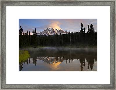 Pristine Reflections Framed Print by Mike  Dawson