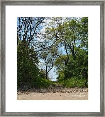 Private Beach Getaway Framed Print by Reva Steenbergen