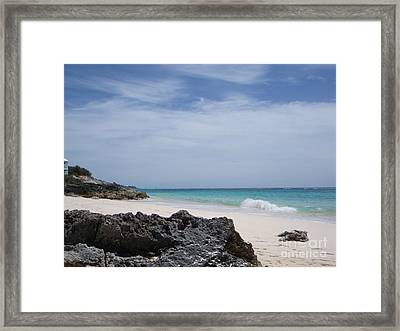 Private Bermuda Beach Framed Print by PJ  Cloud