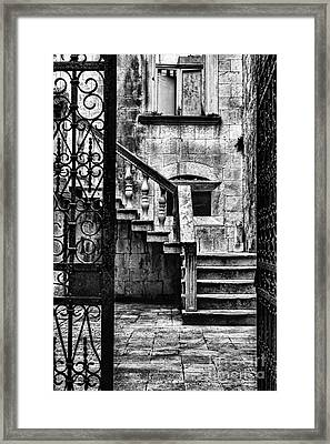 Private Courtyard Framed Print by Andrew Paranavitana