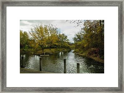 Framed Print featuring the photograph Private Dock by Kathleen Stephens