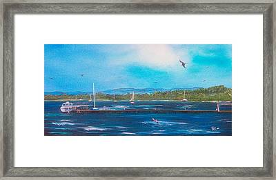 Private Dock Framed Print by Tony Rodriguez