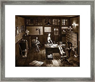 Private Eye Framed Print by Bob Orsillo