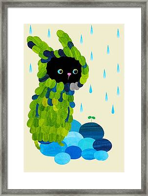 Private Green Framed Print
