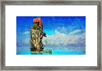 Private Island Framed Print by Leonardo Digenio