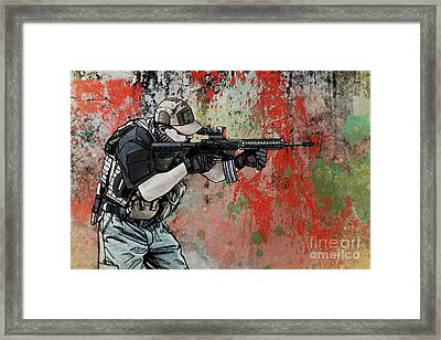 Private Military Contractor  Framed Print