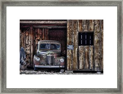 Private Parking Framed Print by Ken Smith