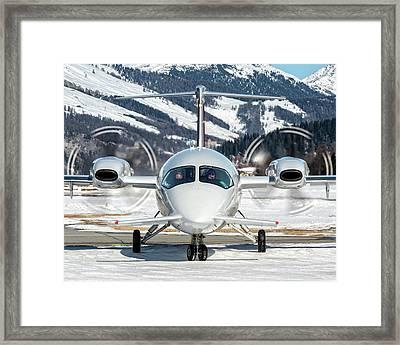 Private Piaggio P180 Avanti I-bcom Framed Print by Roberto Chiartano
