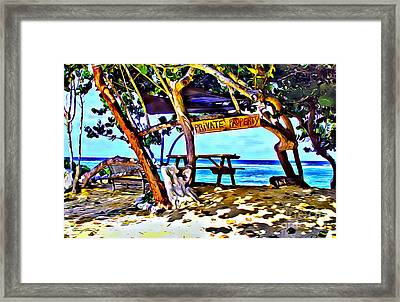 Private Property Framed Print by Carey Chen