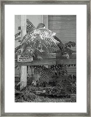 Private Property Framed Print by Troy Montemayor
