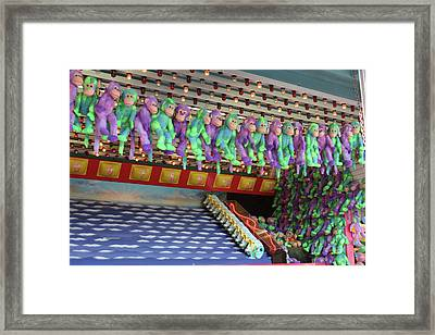 Prize Monkeys Framed Print