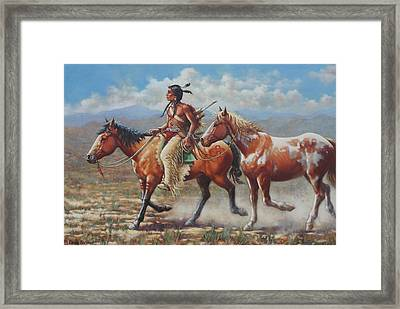 Prize Pony Framed Print